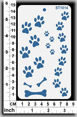 Stencils Templates Masks for Scrapooking, Cardmaking - Dog Paws ST1014