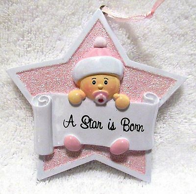 Baby Ornament Nursery Or Shower Party Decoration Girl A Star Is Born Resin New