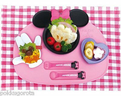 Nishiki Disney Minnie mouse baby tableware dishes set Made in