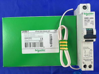 Schneider 26861 RCCB with overcurrent protection (RCBO) C60HC32R30 1P+N-32A 30mA
