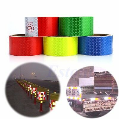 "2"" X 10' Reflective Safety Warning Conspicuity Tape Film Roll Sticker Multicolor"