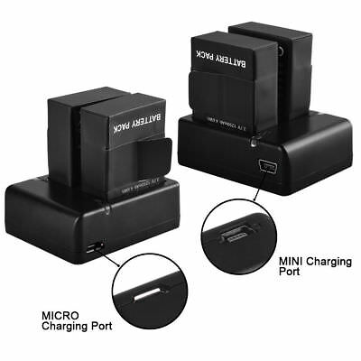 2X AHDBT 301/201 Replacement Li-on Battery + USB Charger For GoPro HD Hero 3 3+