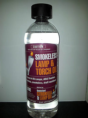 Lamp Oil 1 Litre Bottle - Smokeless, Clear, for Oil Lamps and BBQ Torches