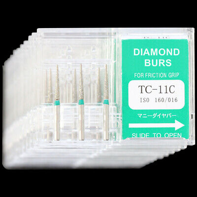 10 Boxes Dental Diamond Burs TC-11C Taper Conical End Coarse Grit Mani Dia-Burs