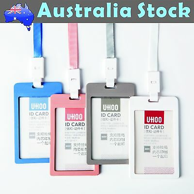 Colorful ECO Friendly Plastic ID Card Holder Name Tag Lanyard Neck Strap 2nd Gen