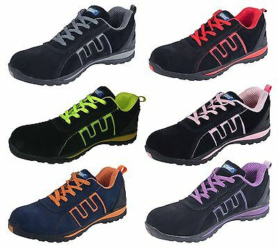 Mens Safety Trainers Shoes Boots Work Steel Toe Cap Ankle Size 3 - 13 (W)