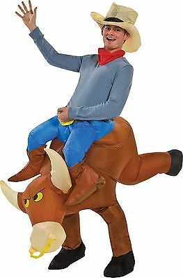 Halloween LifeSize BULL RIDER INFLATABLE ADULT COSTUME Haunted House