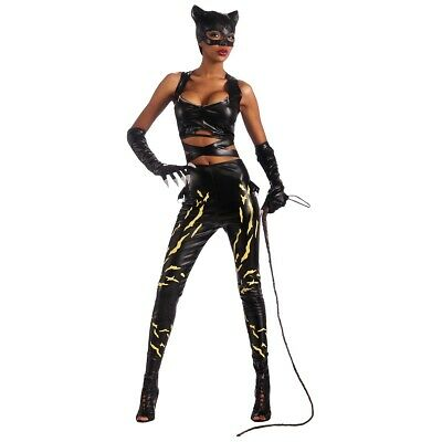 Catwoman Costume Adult Halloween Fancy Dress