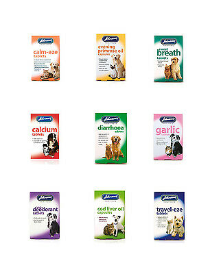 Johnsons Veterinary Pet Tablets Cat & Dog Health Health  Well being For Pets