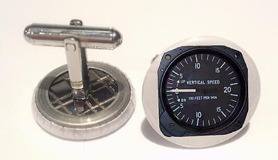 Cessna-172-Vertical-Speed-Indicator  Mens Cufflinks ,Brithday  Gifts