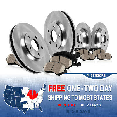 Front 332 mm and Rear 324 mm OE Brake Rotors & Ceramic Pads BMW X5 E53 3.0i 4.4i
