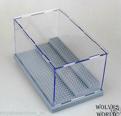 Light Gray Display Case box Fit for Lego building minifigure Assemble decoration