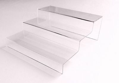 1-PC Acrylic Plexiglass Transparent Clear Tiered Riser Jewelry Display Stand Rac