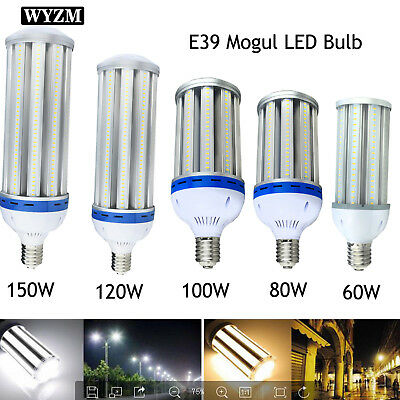 60W 80W 100W 120W LED Corn Light Bulb E39 Mogul Base Bulbs Equivalent 250W-800W