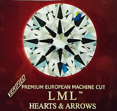 3 Ct loose Simulated  Diamond Round8 Arrows & Hearts,9.25MM,VVS1 Clarity,D Color