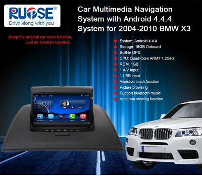 Android Auto GPS Navigation Stereo Satnav For BMW X3 E83 2004-2010+Canbus