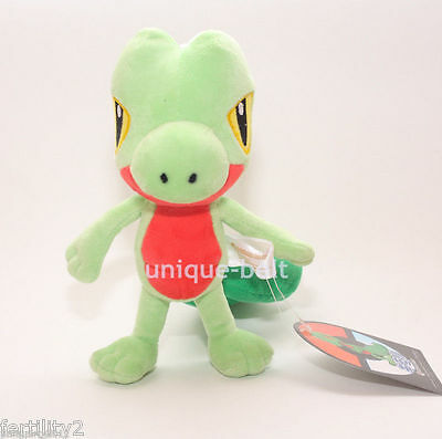 New Pokemon cute Treecko Figure Toy Soft Stuffed Animal Plush doll 20cm 7.8""