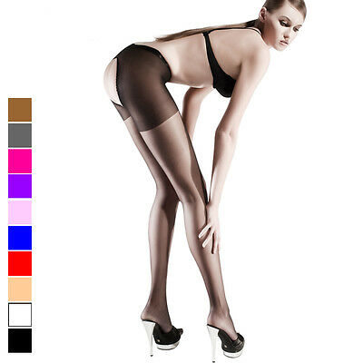 Sexy Women Crotchless Sheer Suspender Tights Open Crotch Pantyhose Stockings