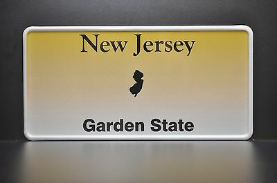 NEW JERSEY License Plate US USA Number Plate Custom ALU Embossed