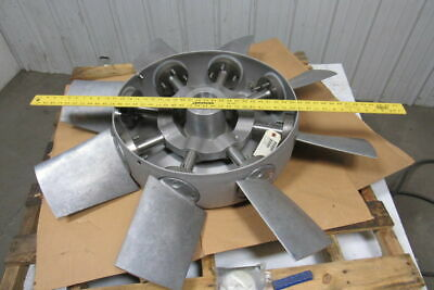 "313881 8 Blade Aluminum Variable Pitch Axial Flow Fan Wheel 44"" OD 2-3/8"" Bore"