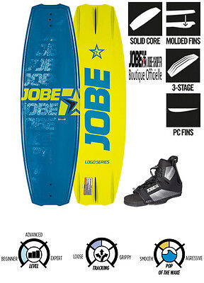 Wakeboard Logo Blue 138 Package Jobe 2016 avec chausses Maze Bindings - wake