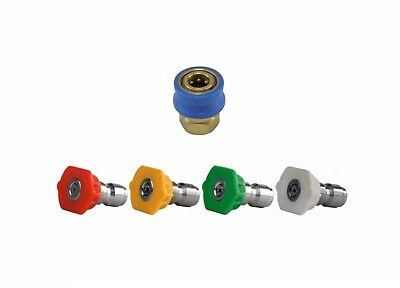 Pressure Washer 11.6mm Quick Release Wash Nozzles 0° 15° 25° 40°  Q/R Coupling
