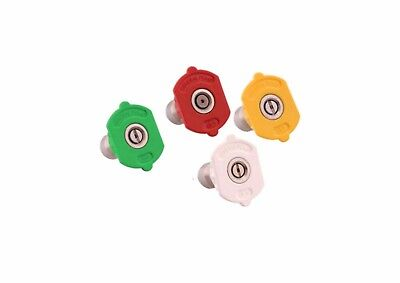 Pressure Washer 11.6mm Quick Release Wash Nozzles Four Pack 0° 15° 25° 40°