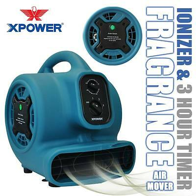 XPOWER P-250NT Freshen Aire Scented Air Mover Carpet Dryer Fan w Ionizer & Timer