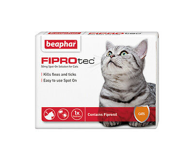 Beaphar FIPROtec Spot On for Cats, 3 X Treatment against Fleas Ticks