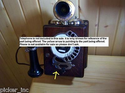 """Antique """" Finger Stop """" Automatic Electric Strowger 11-Digit Wall Oak Telephone"""