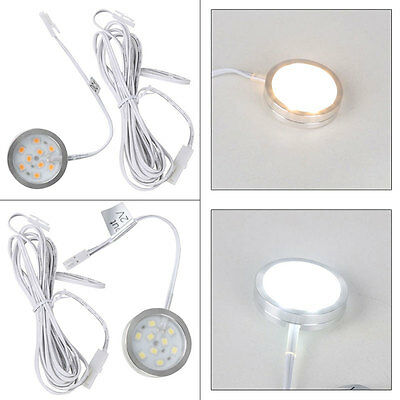 Surface Mounted 1W Warm / White LED Under Kitchen Cupboard Cabinet Round Light