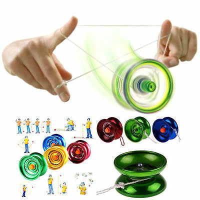 Aluminum  Alloy YOYO Ball Bearing String Trick Toy Kids Gift