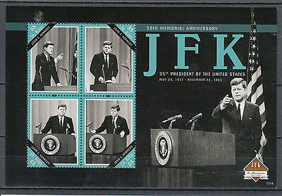 St Kitts 2013 MNH John F Kennedy 50th Memorial Anniv 4v M/S JFK US Presidents