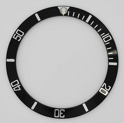 BEZEL INSERT FOR ROLEX SUBMARINER WATCH BLACK SILVER CASES 16610 16800 part