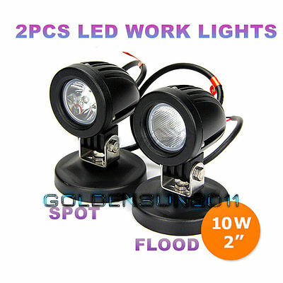2x10W Cree LED Work Light Spot Flood Offroad Driving Fog Lamp Motorcycle 4WD UTE