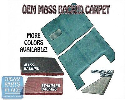 1968-72 GM A Body Mass Backed Molded Carpet for 4 Speed Transmission