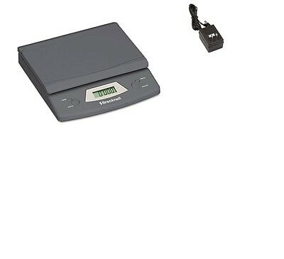 Brecknell 325 Electronic Portable Postal Parcel Scale 25 lb x 0.1 oz, Gray, AC
