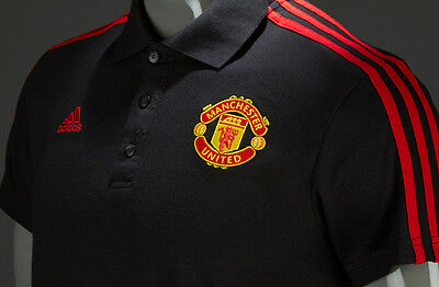 Adidas Mufc 3Stripes Polo Original Manchester United Shirt (Pvp En Tienda 59Eur)