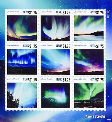 Nevis 2014 MNH Aurora Borealis Rossica 9v M/S Stamps