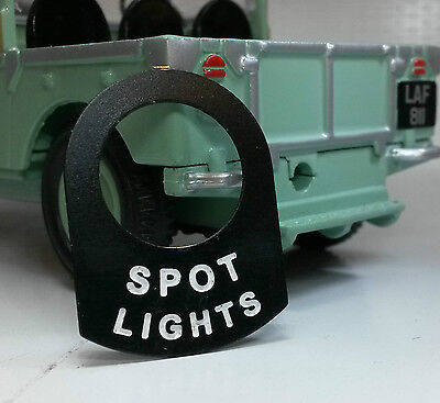 Austin Healey Frogeye Bugeye Sprite Toggle Switch Tab Badge Decal Spot Lights