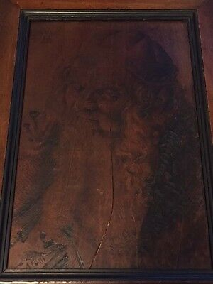 Head of an Old Man 1521 by Albrech Durer Reproduction in Pyrography by A.Colli.