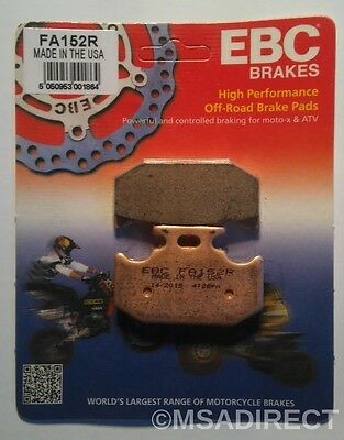 "Kawasaki KLX250 (1993 to 1997) EBC ""R"" Sintered REAR Brake Pads (FA152R) 1 Set"