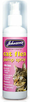 Johnson's Veterinary Cat Flea Pump Spray 100ml, Kills Flea, Mites, Lice