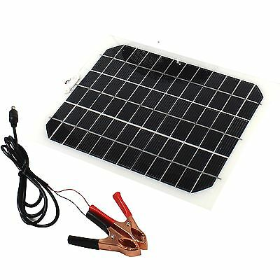 Solar 5W 12V Panel Portable Battery Charger for Waterproof car motor boat yacht