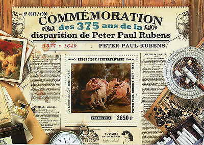 Central African Republic 2015 MNH Peter Paul Rubens 375th Memorial Anniv 1v S/S