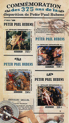 Central African Republic 2015 MNH Peter Paul Rubens 375th Memorial Anniv 4v M/S