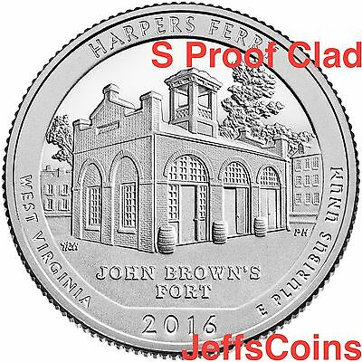 2016 S Harpers Ferry National Historical Park Clad Proof Quarter via US Mint Set