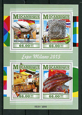 Mozambique 2015 MNH Expo Milano 2015 4v M/S German British Chinese Flags