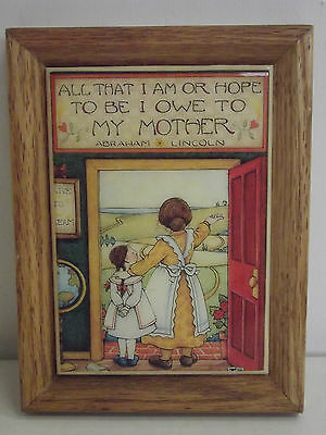 Abraham Lincoln Quote Tile Plaque with Mary Engelbreit Design Mom...........2-17