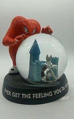 1996 WB Studio Store Exclusive Bugs Bunny and Gossamer SNOW GLOBE Loony Tunes